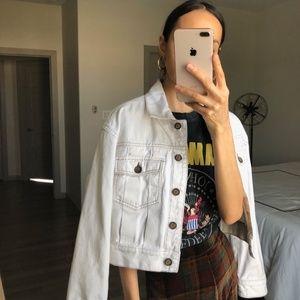 Zara ivory cropped denim jacket